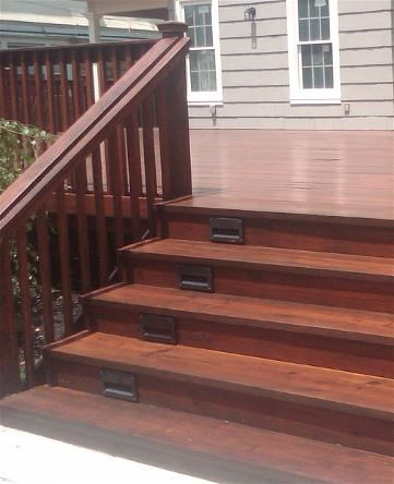 Dark Stain on a Tallahassee Florida deck and porch